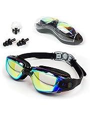 OTTER Easy Fit Triathlon Swim Goggles, Swimming Goggles Anti Fog Shatterproof UV Protection (Black)