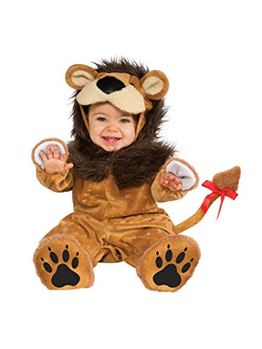 Baby Halloween Costumes Lil Lion (Rubie's Cuddly Jungle Lil Lion Romper Costume, Golden, 12-18)