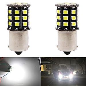 ALOPEE 2-Pack 1156 1141 1073 7506 1003 Car Reverse Light Bulbs – 12V-24V Extremely Bright White 950 Lumens 2835 33 SMD…