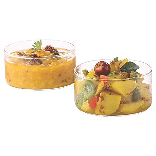 Borosil VCLK180 Vision Classic Large Katori Bowl [Set of 6] Lightweight Durable Glass, Odorless, Dishwasher Safe | 6 Ounce Glass Bowls]()
