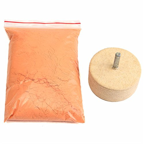 8Oz 230g Cerium Oxide Polishing Powder with 2 Inch Felt Polishing Wheel Isali