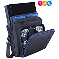 TMG®PS4 Pro/PS4 Slim Storage Case Bag, Waterproof Shockproof Game System Protective Travel Case for PlayStation 4 Pro System and Accessories