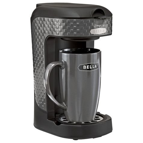 Bella One Scoop One Cup Single Serve Black Coffee Maker - Gourmet Coffee & Equipment