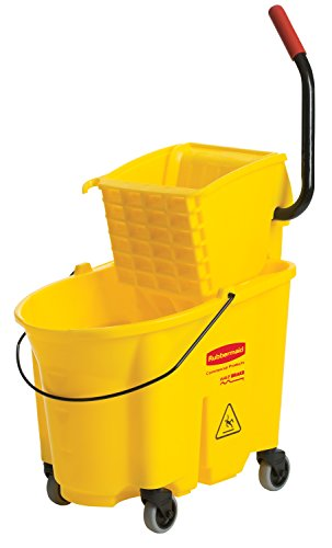 (Rubbermaid Commercial 7580-88 WaveBrake Bucket/Wringer Combination Pack, 35', Yellow)