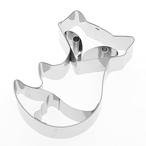 MISAZ Cookies Pastry Fondant Decorating Fox Mold Frame Cutter Tool Stainless Steel DIY Baking Tools