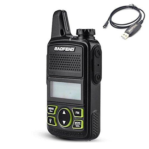 Buy Discount KJD MINI Two Way Radio BF-T1 Walkie Talkie UHF 400-470mhz 20CH Portable Ham FM CB Radio...