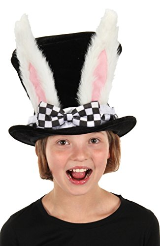elope Kids White Rabbit Topper Plush Hat]()