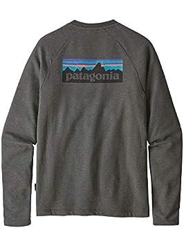 Patagonia MS P-6 Logo LW Crew Sweatshirt Sudadera, Hombre, Forge Grey,