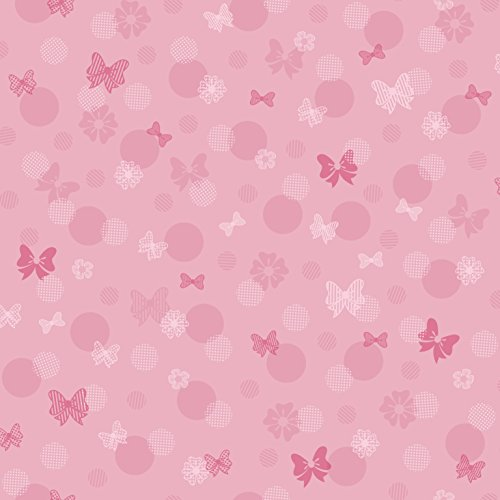 Minnie Mouse Border - York Wallcoverings Kids III Disney Minnie Mouse Bows & Dots Removable Wallpaper, Pinks