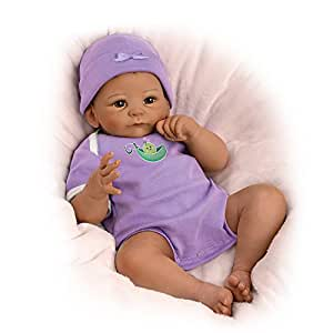 "17"" Tasha Edenholm Sweet Pea So Truly Real Weighted Baby Doll by The Ashton-Drake Galleries"