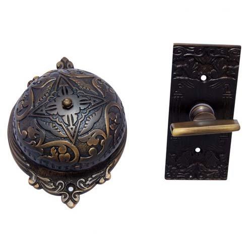 Adonai Hardware Belshazzar Brass Manual Old Fashion Door Bell - Antique Brass