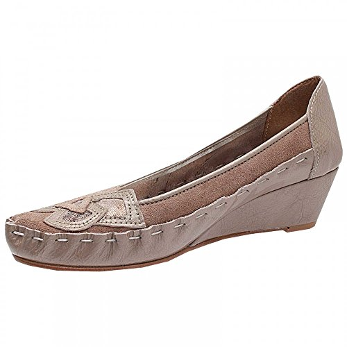 Zaccho Low Wedge Ballet Pump Taupe