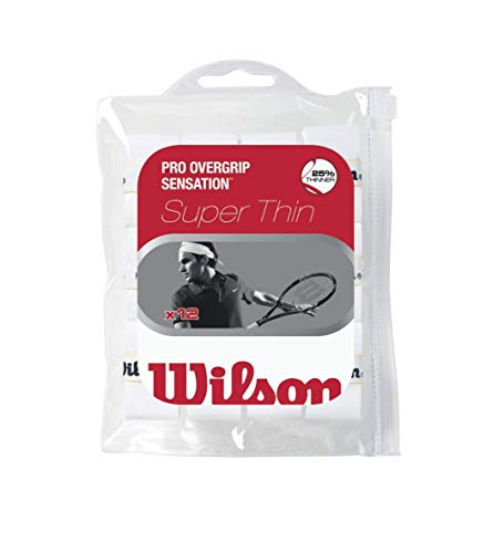 Wilson Sporting Goods Pro Sensation Tennis Racket Grip (Pack of 12), White from Wilson