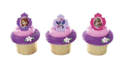 SOFIA the FIRST Sophia PRINCESS (12) Party CUPCAKE Favor TOPPER Decoration RINGS