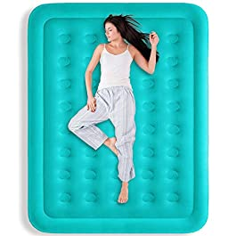 "BAYKA Queen Air Mattress with Built in Pump, Durable Blow Up Inflatable Mattresses for Guests, Raised 18"" Double High Airbed for Home Travel, 80x60x18inches"