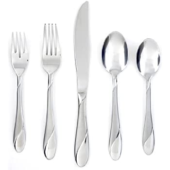 Cambridge Silversmiths Swirl Sand 20-Piece Flatware Set, Service for 4