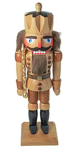 Dregano Natural Wood King Nutcracker Made in Germany by Dregano
