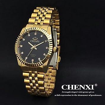 Armbanduhren Oro Chenxi para Hombre de Acero Inoxidable de Cuarzo-Reloj de Moda