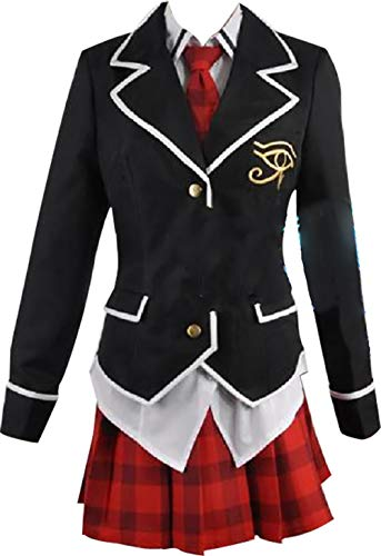 Mister Bear Trinity Seven Asami Ririsu School Uniform Cosplay Costume Black