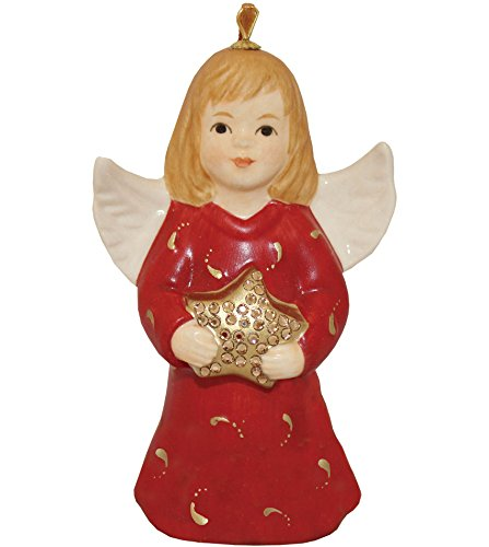 - 2016 - 40th Anniversay Goebel Annual Angel Bell Commemorative Limited Edition-Ruby Red