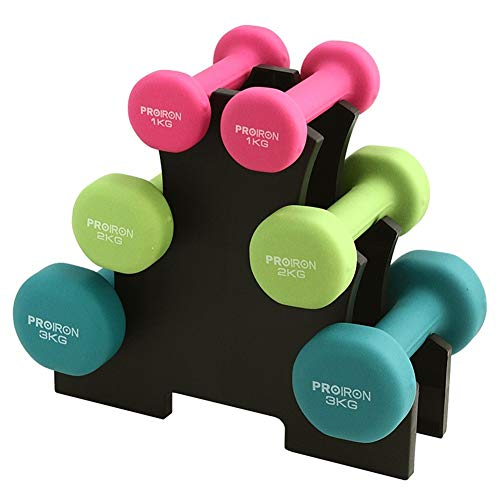 WPCBAA Neoprene Dumbbell Pairs and Sets with Stands