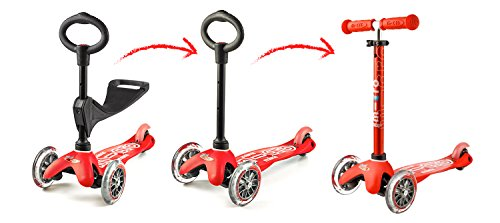 Scooters Micro Mini 3in1 Deluxe Kick Scooter Red Ebay