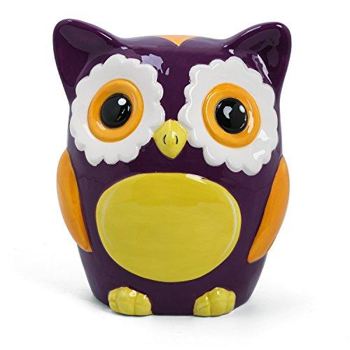 FORLONG FL2009 Owl Piggy Bank Ceramic Coin Bank (Owl Bank)