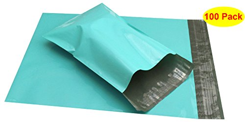 HOSL Pale Green 2.5Mil 8.5' x 11.75'+1.5' Heavy Duty 100% Virgin polyethylene Mailers Shipping Envelopes Bags Pack of 100