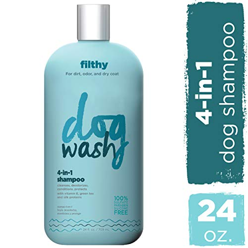(Dog Wash 4-in-1 Shampoo for Dogs Gently Cleanse, Moisturize, Freshen & Protect Dog'S Skin & Coat Natural Cleanser with Green Tea, Vitamin E (24 oz) )