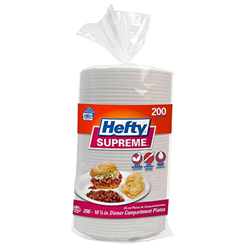 Hefty Supreme Heavyweight Compartment Plates - 175 ct./10.25 in.