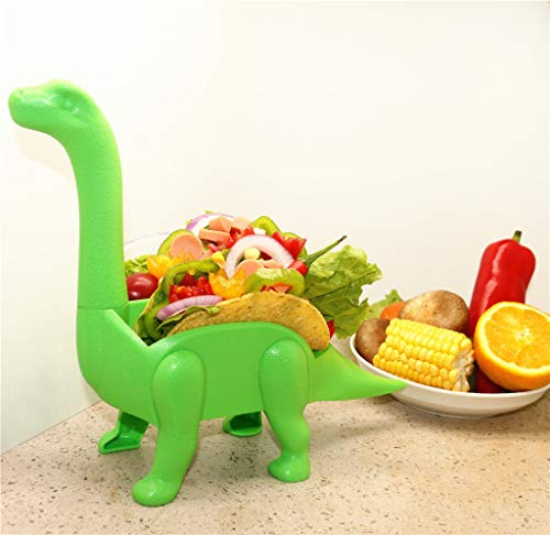 Tronet Taco Holder The Ultimate Prehistoric Taco Stand for Taco Tuesdays and Dinosaur (A, Green) by Tronet (Image #2)