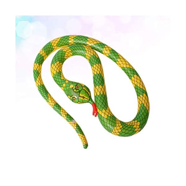 TOYANDONA Serpente Gonfiabile Galleggiante Gonfiabile Giocattolo Palloncino Serpente Spaventoso per Giardino Fattoria… 3 spesavip