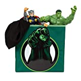 Everything Mary Hulk Advanced Collapsible Storage Bin by Marvel- Cube Organizer for Closet, Kids Bedroom Box, Playroom Chest - Foldable Home Decor Basket Container with Strong Handles and Design