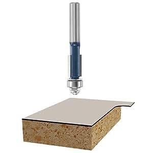 "Bosch 85269M Laminate Trim Bit 3/8"", 1/4"" Shank with Baring, Carbide Tip"