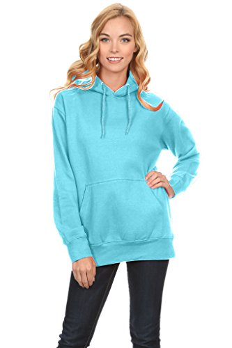 r Hoodies Oversized Sweater Reg and Plus Size Sweatshirts Sky Blue Large ()