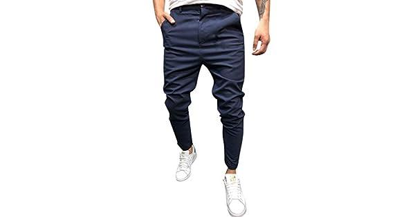 Amazon.com: Pantalones para Hombre Skinny Fit Clásico Casual ...
