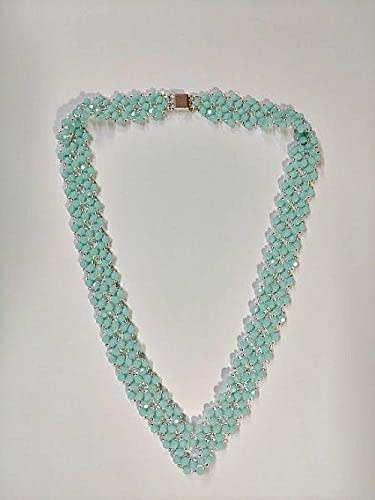 Amazon.com: Mint Green Alabaster Swarovski Crystal Bead