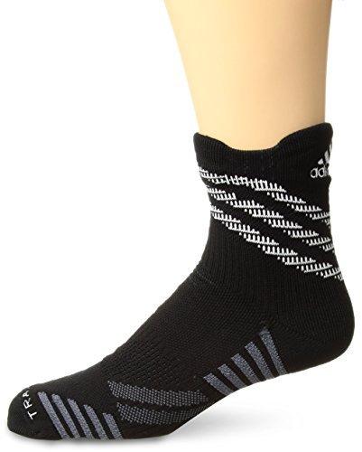 Tennis Crew Socks Adidas (adidas Speed Mesh Basketball/Football Team High Quarter Socks (1-Pack), Black/Night Grey/Onix/White, Medium)