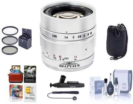 Silver Mitakon Zhongyi Speedmaster 35mm f//0.95 Mark II Lens for Fuji X Mirrorless Cameras