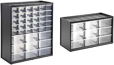 Stanley 1-93-981 Caja De Almacenamiento Con 39 Compartimentos + 1-93-978 - Caja De Almacenamiento Para Piezas Pequeñas Con 9 Cajones