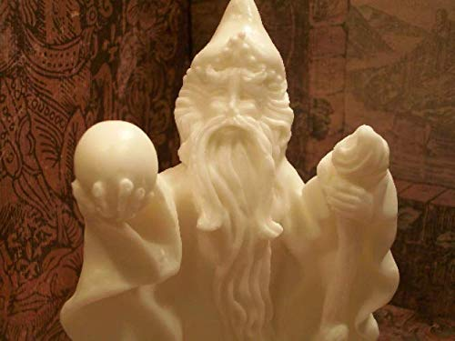 White Beeswax Wizard Candle FREE USA SHIPPING ()