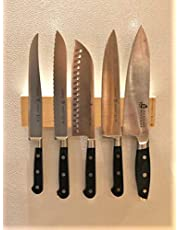 MADE IN CANADA, 10 inch KNIFEMATE MINI, NO DRILLING REQUIRED, Industrial Strength Adhesive Velcro, KNIFEMATE MINI MAGNETIC KNIFE HOLDER, MAGNETIC KNIFE STRIP, MAGNETIC KNIFE BAR, KNIFE MAGNET,10 INCHES x 2 3/8 INCHES x 3/4 INCHES, KITCHEN KNIFE HOLDER, MAGNETIC BAR, POWERFUL MAGNETS, SOLID CANADIAN MAPLE, EASY INSTALLATION