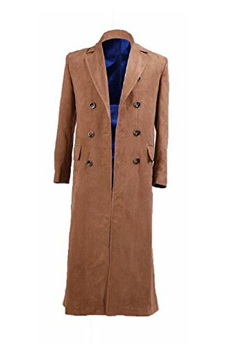 [Doctor Who Cosplay Costume Dr Brown Trench Coat New Version By CharmingCoco] (The Who Halloween Costume)