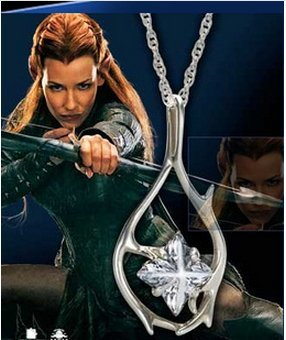 kupaiLord of The Rings The Lord of The Rings The Captain of The Guard Tauriel Necklace Pendant Elves