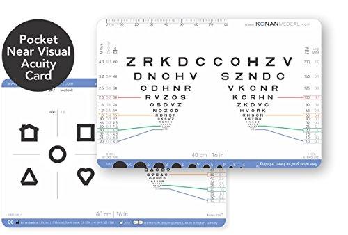 - Konan Pocket Near Visual Acuity Card