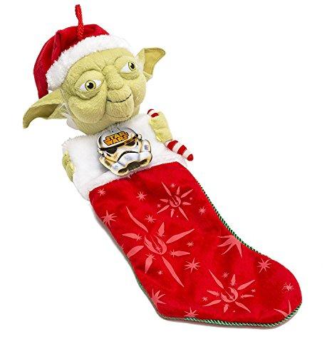 Kurt Adler Star Wars Yoda with Candy Cane Plush Head Stocking, 22-Inch (Plush Angel Stocking)