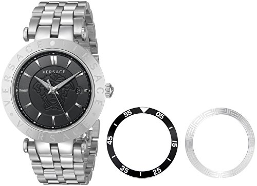 Versace-Mens-VQP070015-V-Race-Silver-Tone-Stainless-Steel-Watch-With-Interchangable-Toprings