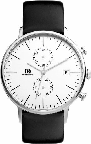 Danish Design Chronograph Black Leather Men's Watch IQ12Q975
