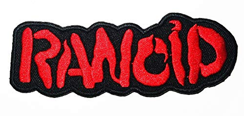 - Music R Red Punk Rock Ska Punk pop-Punk Post-Punk Music Logo Patch Embroidered Sew Iron On Patches Badge Bags Hat Jeans Shoes T-Shirt Applique