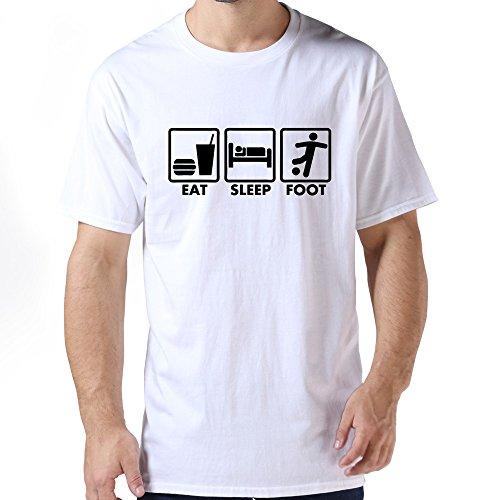 Eat Sleep Foot T Shirts For Mens